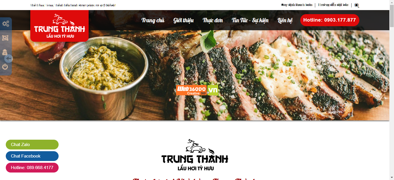 Thiết kế web ẩm thực Restaurants